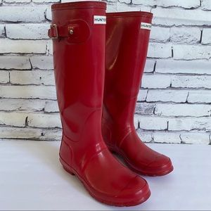 Hunter Boots Original Tall Gloss Rain Boots